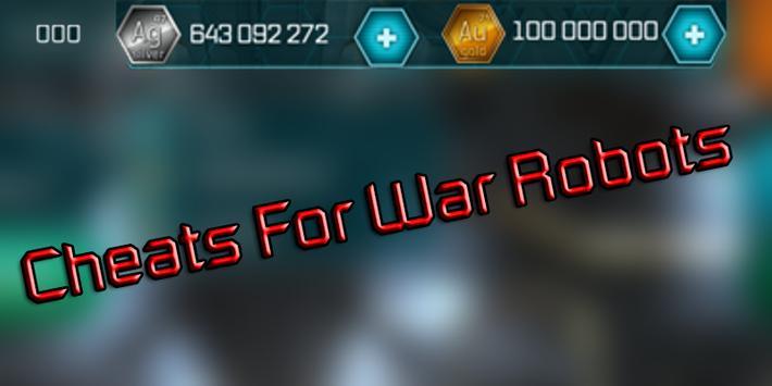 Cheats For War Robots Hack - Prank! poster