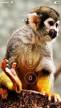Capuchin Monkey Screen Lock screenshot 1