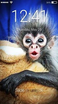 Happy Monkey Lock Screen poster
