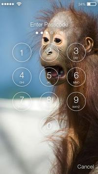 Happy Monkey Lock Screen apk screenshot