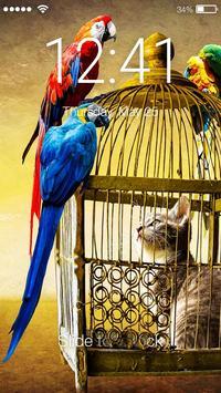 Parrot Ara Lock Screen poster