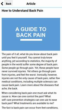 A Guide to Back Pain screenshot 1