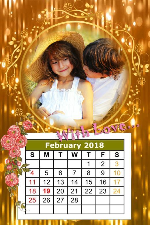 Calendar Photo Frame 2018 poster