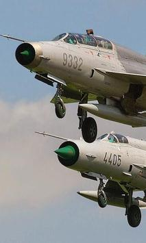 Puzzle Mikoyan Gurev MiG 21 poster