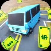 Blocky Town Roads - ZigZag Drive icon