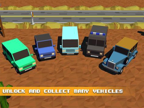 Blocky Town Roads - ZigZag Drive apk screenshot