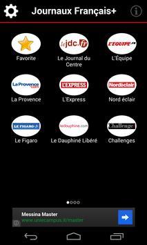 Journaux Français poster