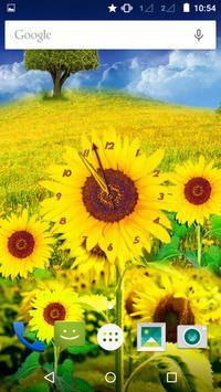 Sunflower Clock apk screenshot