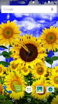 Sunflower Clock poster