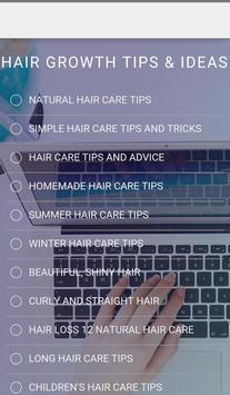 Hair Growth Tips & Ideas apk screenshot