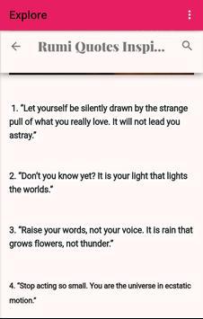 Rumi Quotes screenshot 2