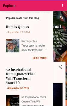 Rumi Quotes screenshot 4