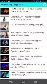 Austrian Pop Songs 2016 poster