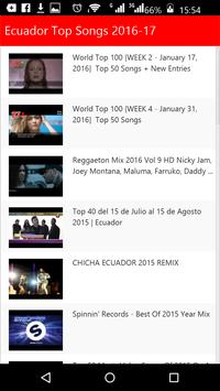 Ecuador Top Songs apk screenshot