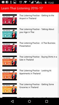 Learn Thai Listening apk screenshot