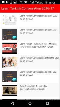 Learn Turkish Conversation apk screenshot