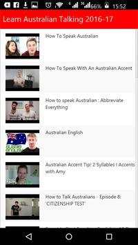 Learn Australian Talking poster
