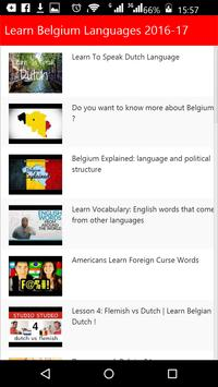 Learn Belgium Languages poster