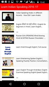 Learn Indian Speaking poster