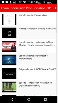 Learn Indonesian Pronunciation apk screenshot