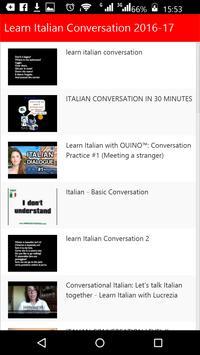 Learn Italian Conversation poster