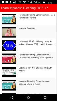 Learn Japanese Listening poster