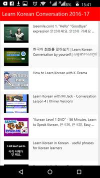 Learn Korean Conversation apk screenshot