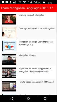 Learn Mongolian Languages poster
