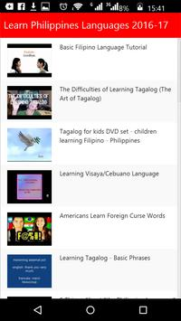 Learn Philippines Languages apk screenshot
