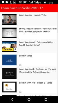 Learn Swedish Verbs poster