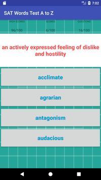 SAT Words Test A to Z apk screenshot