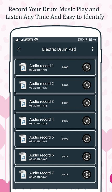 real drum pad electro for android apk download. Black Bedroom Furniture Sets. Home Design Ideas