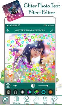 Glitter Photo Text Effect screenshot 1