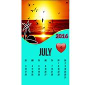 SUNSET CALENDAR WALLPAPER 2016 icon