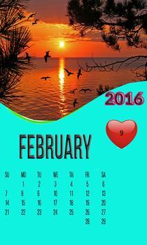 SUNSET CALENDAR WALLPAPER 2016 poster