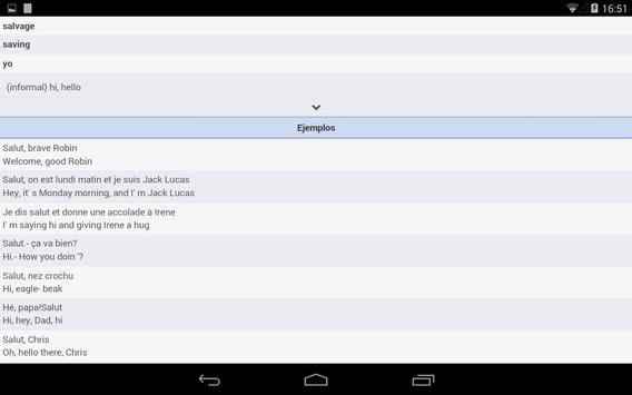 Learning Dictionary French apk screenshot