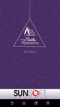 Class X Maths Theorem poster