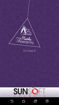 Class IX Maths Theorem poster