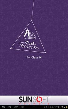 Class IX Maths Theorem apk screenshot
