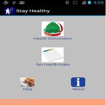 StayHealthyCalculators poster