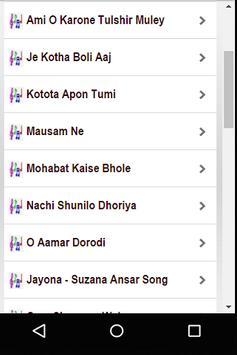 Bangla Audio for Suzana Ansar Songs apk screenshot