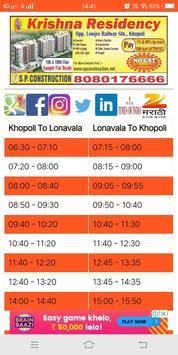 Khopoli (KMT) City Bus Time Table screenshot 3