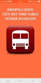 Khopoli (KMT) City Bus Time Table poster