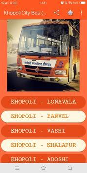 Khopoli (KMT) City Bus Time Table screenshot 1