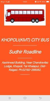 Khopoli (KMT) City Bus Time Table screenshot 2