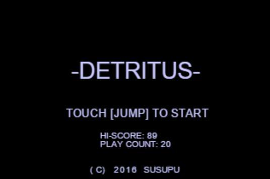 DETRITUS poster