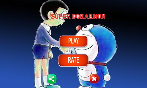 Super doreamon game jump and run poster