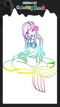 Mermaid Coloring Book poster