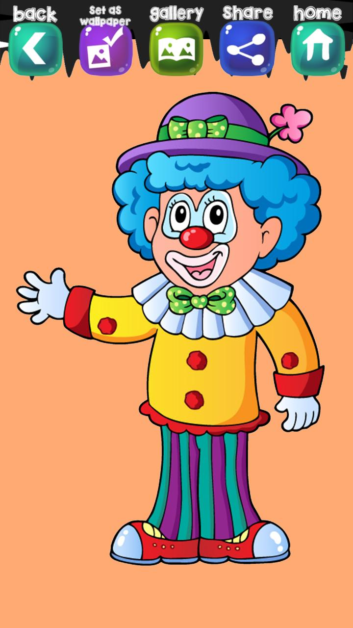 Clown Coloring Book For Android APK Download
