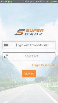 Super Cabz Vendor apk screenshot